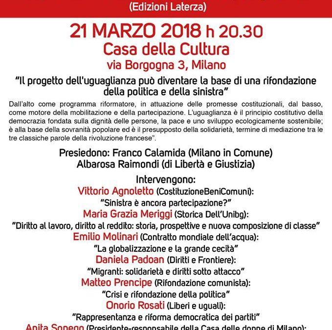 Milano 21 marzo. Incontro con Luigi Ferrajoli